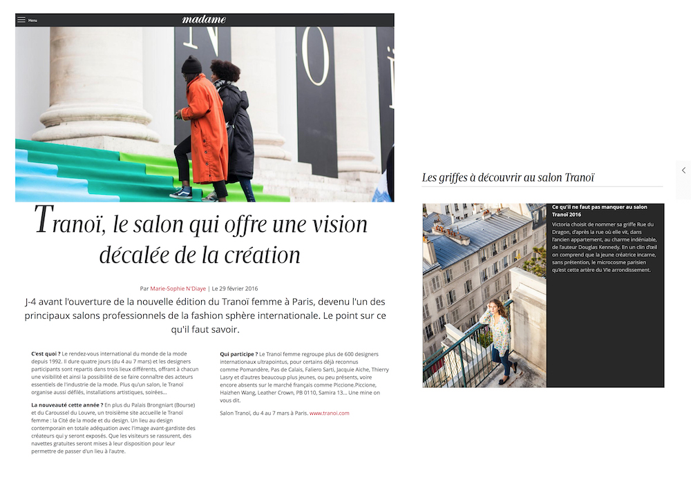 madame figaro - rue du dragon